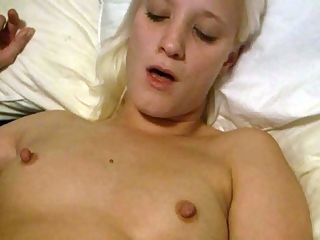 Cock Ring Fuckers : Blonde Teen Jules stretches a cockring on her BF and he fucks her to screaming orgasms and then pulls out and cum blasts her!