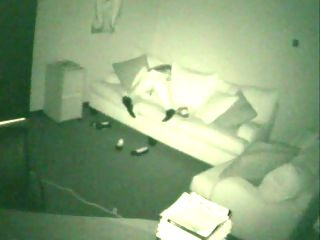 Nightvision Spycam Masturbator : Chick doesnt know a nightvision camera is secretly filming her fingering her pussy in the employee lounge