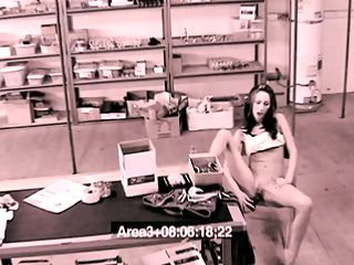 Busted Dildo Cuntery : Porn DVD distributer warehouse stock girl dips into the companys plastic goods and has a ball busted on film