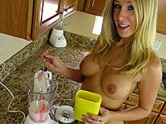 Allison Pierce drinks ass smoothie