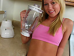 Madison Scott drinks ass smoothie