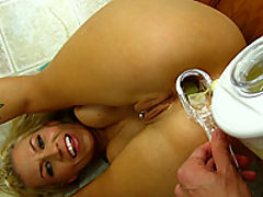 Xana Star drinks ass smoothie