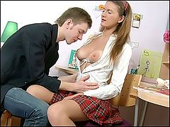Hot teen booty anal fucked : This video is a 100 pure anal stuff! Faina must pass her English test, and her tutor assures her that he will do his best to help her with this exam. But Faina should show her gratitude...She should offer her tight anal hole to get it hard fucked! Her tutor will be on top of the world, because her ass is really good for nasty banging. No pussy fucking - only ANAL!!!!