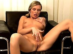 Barbara - Barbara enjoys relaxing at the end of another long hard day at work by casting off her work clothes and slumping naked into an office armchair as she begins to play with her pussy. Things get even better as she gets her nipples sucked, her pussy licked and is then fisted and licked simultaneously.