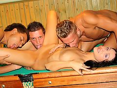 Gangbang in billiards