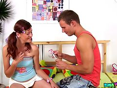 Romantic teens fuck hard : Though these teens are romantic and love all kinds of sweet things, like sharing a candy, they are also are obsessed about crazy and hard sex games. That night they decided to try out something really spicy and that is why they enjoyed a deep anal fuck instead of a usual sex action.