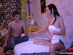 Anal sex after quarrel : Couples quarrel usually and this couple is not an exception but they always make it up with each other with the help of a passionate sex. That night, the stud was so excited that he did everything to make the chick forgive him and allow him to penetrate her tight butt.