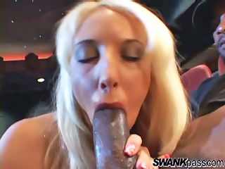 Big Butt Babe Sucking Cock : Fiona Cheeks finds herself alone with a giant black stud and cant resist wrapping her long legs around his waist and riding his fat cock until the sun rises!