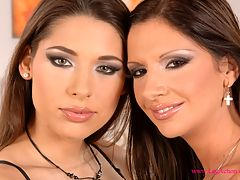 Two Brunette Lesbian Lovers : Bambi and Zafira put their soles to work in this amazing lesbian foot fucking action packed scene!
