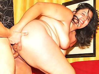 Sweet Cute Fattie : Fat lady Anna with huge swinging melons getting fucked hard in her wet pink