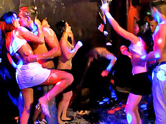 Disco : Euro teens really know how to have fun. Just look at this Teenamite video where the teen babes go wild at a private party. The night starts out tame, if you can call dirty dancing, alcohol shooters, and sweaty bodies tame. Then things get really wild when the girls begin to grind on each other. Once one girl starts to pull her shirt off, the other teen girls join right in. The hot young babes turn the dance party into a sexy strip tease. They take turns getting up on the tables and showing their skills as amateur strippers. When the lights go down, things get even wilder. The riled up babes can barely see who they are grinding against and use the dark to tease each other. The girls put their moist mouths on whatever body part is nearby- whether a big cock or pair of soft tits. The naughty party teens get so turned on by watching each other that they really get wild in public. The party quickly turns into a hot orgy with teens taking turns fucking each other to the music.