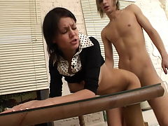 Vick and Viola : Viola is a curvy little cutie and this lucky teen stud Vick gets to explore every inch of her soft body. Of course he wants to do more than just explore, he cant wait to penetrate her. Before the fun is over, hes filled with teens mouth with his hard cock, then dips his cock deep inside of her pussy. She cant believe how good his cock feels as ...