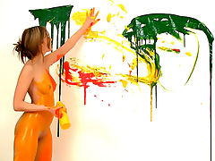 Im going to be an artist : I always thought itd be so much fun to be a painter! A naked painter! Covering my tight toned body with the cool wet paint is such a turn on especially when my titties and my pussy get covered in it!