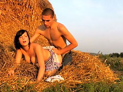 Branislava and Aleksej : The sun was setting but the day wasnt over yet for these two horny teens from Dorf. It was just beginning for them as they shed their clothes in this field. The fading sunlight created erotic shadows across their nude bodies and it was just a matter of time before they gave into their lust. She needed his cock as much as he needed to fuck her. It was just natural and soon his erection was sliding inside of her warm pussy. They went slow at first, but it wasnt long before he was drilling her pussy.