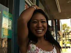 Lyla Lei : Asian hottie Lyla was trying to drum up some cash for her poor family and we were only too eager to have her suck our eggrolls for a little green! Watch the squad give this immigrant slut a big taste of american meat as they sample a little mu shu in this episode!