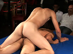Jaymz and Tyler Zane : A new year at college brings a new year of back to school parties! This party has a bit of a twist though, instead of a contest involving best chest or ass these college freshmen decide it would be more fun to have a best cock contest. Cocks come out and the judging begins by sticking the horny meat down their throats and asses until the winner is crowned with pearl jewels.