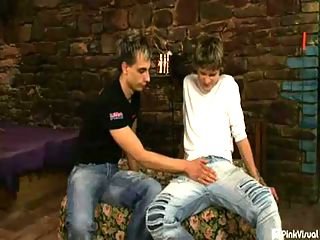 Rob Maxwell and Andrew Shut : Little Tommy Twink had never been with another stud before, but after offering to pay him some big bucks, he agreed to spread wide his wings and his ass to try some hardcore first time gay sex. This first timer took to chugging cock and getting reamed like hed been doing it all his life!
