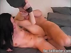 Hot Ass Fucked Hard : Pervert guy stuffs a toy inside a hot chicks cunt and asshole and later on plugs it with his fat and hard dong. Now thats one bitch to look forward to. Gotta see her take on this hard anal drilling from his cock, sure its a blast!
