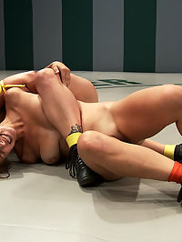 Blond Fitness model and gorgeous brunette battle it out on the mat. Loser gets fucked, must lick pussy : SEASON NINE MATCH UP!AUDREY ROSE The ThornHT 55WT 130lbsSeason record 0-0 Lifetime record 0-0HOLLY HEART The Honey BadgerHT 56WT 135lbsSeason record 0-1 Lifetime record 1-6Welcome Audrey Rose to Ultimate Surrender. Audrey is fast becoming one of Kinks favorite go to models. This girl is beautiful, tough and energetic. She is the outdoors type, rugged, and well put together. This is Hollys second match this season. She lost the opener to Rain DeGrey. Most believe it was do to her lack of conditioning. Holly came to the mat, slow and with very low endurance. She could be one of the elite if she can improve on her endurance. Holly took control of the rookie early. However Audrey was no push over. Holly had to work harder then she intended to. Multiple submission holds, brutal leg scissors, head locks and finger fucking on the mat. Audrey learned a lot, but mostly learned that losing will get you brutally fucked like common whore. Holly made Audrey deep throat the refs cock, over and over.