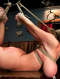 Mistreated Sara Jay : Sara Jay is used to being in control and getting her way as a bar owner. She takes things too far with one of her employees and finds herself being used up and sexually punished! The tables have turned on this busty MILF and now Sara is humiliated and suffers in hard bondage.