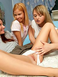 Bethany, Ania and Agathe - Three sweet teens lick and finger