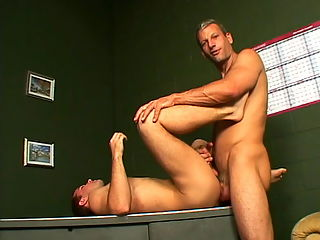 Corbin gets laid hardcore : Charming gay Corbin getting anally screwed by a huge schlong