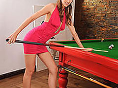 Eufrat and Sandra Sanchez : Long sexy legs and pool sticks