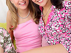 Abigail and Barbamiska : Teen lesbians with new toys