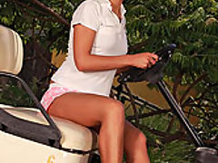 Victoria Sweet : Victoria naked in golf car