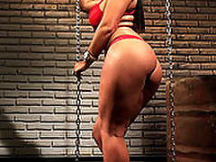 Amanda Black : Bound, hot wax dripped on her