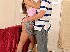 Zafira : Horny schoolgirl gets fucked