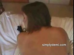 Wife fucked from behind : This busty British wife gets fucked hard doggy style