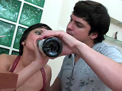 Mima and Adam hardcore anal video : Lucky Adam caught nasty young slut Mima in just the right place and in that bathroom he means to not only bang that dripping tight lady pussy but go to war on her cute gripping lady pooper. After giving him a blowjob Mima took the full brunt of Adam and aposs thick meaty member and he totally began pounding her young bum shaking her like a martini and then busting a fat juicy nut.
