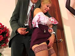 Lottie and Mark horny anal video : lovely Lucy knew her reports were late and her professor would be upset but her pussy was itching for some cock and she couldn and apost help it. Her professor knew it and soon he was getting horny as she begged for some dick up her tight ass. Professor knew he wasn and apost in trouble as he whipped out his cock and she sucked it to get it all slippery so it could fit inside her crinkled little bunghole. Now he was stuffing that man boner into her young pooper and filling it with creamy hot cum.