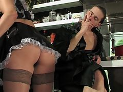 Emilia and Mike horny anal movie : Never has a sexier French maid been seen. This young brunette is gorgeous beyond what words can describe and it and aposs a surprise this young man didn and apost jump her bones the minute he laid eyes upon her. Instead he has kept his patience until she was ready for his entry. He introduces his tongue to her tight asshole and then his cock to her mouth. She sucks him like the lascivious cunt that she is and his boner is soon ready to be delivered into her body in the proper fashion. He and aposs going to nail her asshole!