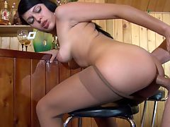 Mabel and Bobbie naughty anal pantyhose movie : Bobbie wanted Mabel as he dreamed he had banged pantyhose asshole Bobbie was hot for that plump ass woman. He grabbed his boner and then fucked her lady ass brutally much to her pleasure. Mabel devoured every centimeter of his hard pulsing cock as he pounded her snug nasty butt. His thrusts were powered up and after slamming that lady shitter he blew a hot wad of spuzz.