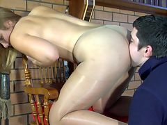 Miriam and Adam awesome anal pantyhose video : Miriam is one horny lady bitch who must suffer a man and aposs cock stuffed deep inside her hot tight ass to feel right. She now has Adam in her grasp and soon gets his his boner stiff and ready so that the dude can drill into that gripping pantyhose pooper of hers. Adam just goes psycho on that butt and begins to buttfuck her hard and often takes his cock from inside her ass and gets her to sucking his cock.
