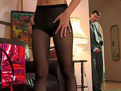 Alina and Ralph seductive anal pantyhose video : Rick always wanted to see what life was like in the executive office and snuck inside and caught Marcella the maid changing into her gear and that sleek sexy pantyhose was enough to get his big hard cock pulsing with excitement. He got her hot when he caught her masturbating and soon the two were into each other in hardcore sex until Rick finally arrived at his carnal destination which was Marcella and aposs sweet tight butthole neaty wrapped in sexy sleek pantyhose.