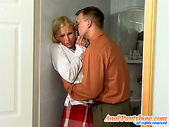Ira and Peter cool anal pantyhose action : When a sexy schoolgirl slut like this hot blonde gets it in her head that she needs a dick in her asshole it and aposs hard to stop her from getting one. It and aposs hard to tell her no, to tell her that she shouldn and apost want the cock. She tries to fight the desire when her teacher comes to give her what she needs but she just can and apost do it. She needs to have him in her asshole and she sucks him dutifully when he pulls out his cock. She and aposs just a service slut looking to be used like a hot whore.