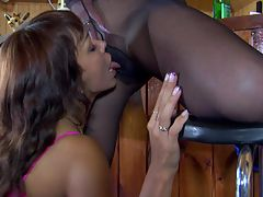 Lieila and Margo lesbian pantyhosing on video : Taking a smoking break are Leila and Margo who and aposll start enjoying a licking that pussy and in their nylons you get to see themlapping up snatch that only these lesbians pussyfuck friends can get into during their nylon pantyhose orgies. It doesn and apost take much for them to boiling cunt sauces oozing and when they break out their snakelike female tongues and get to working on each other. .