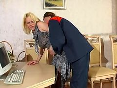 Kathleen and Mike red hot pantyhose action : Smashing blondie in barely black pantyhose getting new fucking sensation