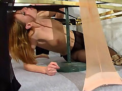 Leah and Alice awesome pantyhose job scene : Leah and Alice are two nasty office lesbian babes who have been at one another for a while raunchy lesbian office fucking and these two will not let anything get in their way. These pantyhose lesbians fuck friends get into some hardcore drooling pussy eating they get the the office swimming in their boiling cunt sauces like someone blew the dam open with dynamite.
