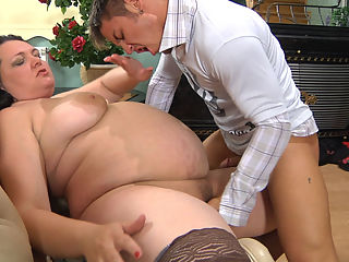 Rosemary and Govard naughty mature movie : BBW Rosmary wanted young stud Govard to pound her dripping tight pussy and the dude had that hot mature pussy before so he joined in with no reservations. He knew the older lady could blow cock like crazy as he and aposd heard from the neighborhood guys and when she made her move he popped a boner and she almost lost her mind. The nasty mature slut was going to do whatever she could to milk that sticky salty sperm out of the lad.
