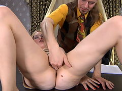 Susanna and Jerome passionate mature action : Big thighed, horny old mature Susanna saw young Jerome and busted her move that was so sexy that he got a hardon and that sent the old girl dripping. She pounced on his throbbing boy dick and he with his pony tail stuffed his blood filled cock so fast in moistened sweet pussy that the fucking caused her big juicy tits to bounce around like water balloons in an earthquake. Soon the young lucky guy was filling her hot mature pussy with jizz.