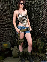Nubiles.net Kiki Kandy - Army babe Kiki Kandy stuffs her needy teen pussy with a sex toy : Army babe Kiki Kandy stuffs her needy teen pussy with a sex toy
