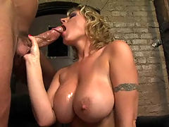 Velicity Von, Big Wet Tits 3 : Big breasted babe Velicity Von sucking big hard cock while fingering her pussy