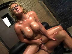 Velicity Von, Big Wet Tits 3 : Busty blond Velicity Von shouting while riding on hard dick