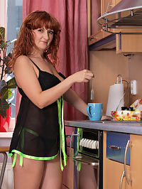 Anilos.com Katia - Naughty housewife spreads her mature pussy in the kitchen : Naughty housewife spreads her mature pussy in the kitchen