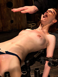 Kink fan gets her 1st shoot, chooses Device as her first! Pain is delivered. Pleasure is extracted! : Welcome Jay Tayor to Device. This is her first hardcore bondage shoot. This 20yr old has been a fan of the site for years, now she gets to experience it first hand.Brutal pain is the order of the day. Her nubile body is bound and abused, we deliver the pain, and extract the pleasure. We make Jay cum and cum often. Screams of pain followed by the brutal orgasm that Device is famous for delivering.