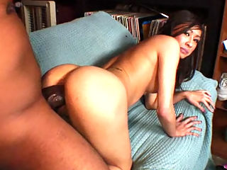 Ariel Rose, Huge Cock Junkies 2 : Skinny asian babe Ariel Rose fucked by a monster cock